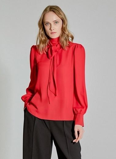 People By Fabrika Bağlama Detaylı Bluz Kırmızı